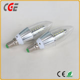 Lumière d'ampoule de l'extrémité DEL de torpille de l'ampoule C35 E14 4W de bougie de DEL