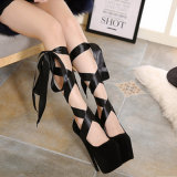 Zapatos formales de la señora alineada de la manera de los zapatos de trabajo del diseño del alto talón