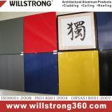 Panneau composé en aluminium rouge et blanc pour le revêtement de mur
