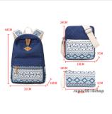 Nouveau 3PCS/Ensemble sac à dos Sacs de voyage en toile Bookbags l'école pour les étudiants