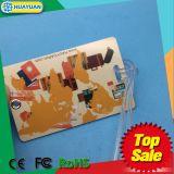 Значок удостоверения личности бирки багажа PVC с планкой силикона