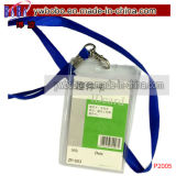 Lanyard Neck Strap ID Card Badge Mobile Polyester Lanyards Papeterie de bureau (P2006)