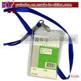 방아끈 목 결박 ID 카드 기장 이동할 수 있는 폴리에스테 방아끈 사무실 문구용품 (P2006)