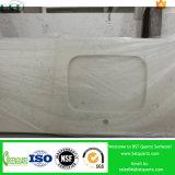 Туманный Countertop кварца Carrara белый полуфабрикат для ванной комнаты