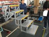 Paso 5 eléctrico, escalera plegable escalera de aluminio para autobús