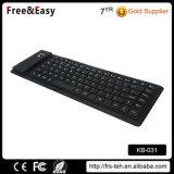 Schwarze weiche Note drahtlose Bluetooth Silikon-Tastatur