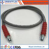 Manguito de alta presión flexible trenzado del caucho de la arandela del alambre de acero