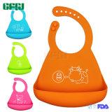 Bib младенца силикона качества еды Non-Disposable гибкого износа младенца Packageable