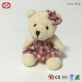 치마 귀여운 선물 세륨 견면 벨벳 Keychain를 가진 소녀 곰 장난감