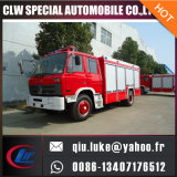 泡の乾燥した粉タンク消防士のトラック