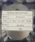 Blanco de la farfulla del circonio de la alta calidad y de la pureza elevada para la capa
