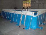 Гигантский раздувной плавательный бассеин фильтра бассеина рамки с фильтром и трапом