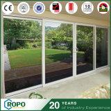 Puerta corredera de doble vidrio con diseño interior de alta calidad