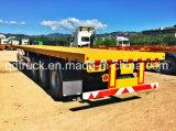 Cimcトレーラー40FTの容器のトレーラーの平面のトレーラー