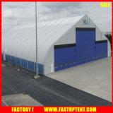Carpa forma curvada incombustible Fabricfor evento al aire libre tiendas de campaña Almacén Canopy en White