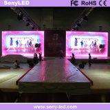 alquiler de interior de 2.5m m HD que hace publicidad de la pantalla de visualización a todo color de LED