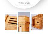 Design Retro Natural Vinho de bambu carbonizada Embalagem Caixa de oferta