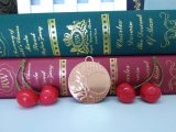 卸し売り旧式で赤い青銅の苦闘するスポーツのブランク挿入メダル
