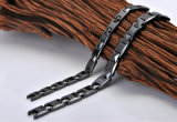 Braccialetto di ceramica elemento nero elegante di colore del bio- per gli uomini (10048)