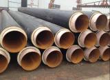 가열 및 냉각 저항하는 HDPE 입히는 폴리우레탄 거품 주입 거품 관 절연제