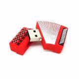 Carte mémoire Memory Stick d'entraînement de crayon lecteur de cadeau de l'instrument de musique 4GB 8GB de dessin animé
