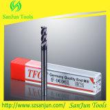 CNC Molen van het Eind van het Carbide van de Hulpmiddelen van de Gravure de Stevige Vierkante Vlakke