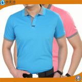 Fábrica Atacado Men Polo Camisas de algodão stretch Pique Polo T-Shirts