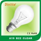 Lampadina incandescente di A19 B22