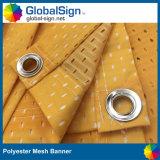 Bandiera grafica della rete fissa del vento del poliestere stampata fornitore della Cina
