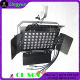 72X3w scaldano l'indicatore luminoso bianco dello studio di alto potere LED con il Barndoor
