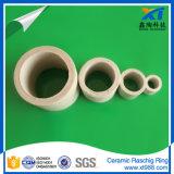 Anillo Raschig de cerámica industrial para la torre de embalaje