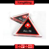 O póquer 2017 de Texas Holdem Stars Texas todo na transparência cheia bilateral Ym-Ai02 da estrela Cinco-Pointed do tipo