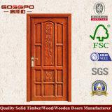 단단한 나무로 되는 두 배 여닫이 문 집 등록 문 (XS1-012)