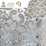 Tissu en dentelle à la broderie, motifs floraux, mode et beau pour la robe Lady-Ebook africaine et suisse E20024