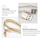 De nylon van de Micro- USB van de Bliksem Kabel van de Gegevens het Laden Lader voor Samsung