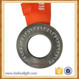 リボンが付いている投げる熱い販売のカスタムニッケルのスポーツ・イベントメダル