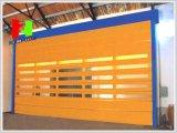 Schnelle schnelle faltende Belüftung-Außengewebe-flexible stapelnde Hochgeschwindigkeitstür (Hz-FC039)