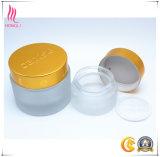 Contenitore libero cosmetico dell'estetica del vaso della crema di vetro glassato