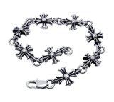 De gotische & Armbanden van de Juwelen van het Lichaam van het Roestvrij staal van de Mensen van de Stijl van de Punker & van de Rots Klassieke Dwars