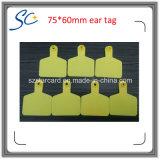 75 * 60mm Amarelo Laranja Vermelho Verde Cor Etiqueta De Pele De Gado Plástica