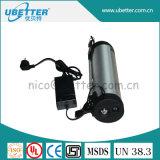 李イオン電気Bike&#160のための電池供給24V 16ahの水差しのタイプリチウム電池;