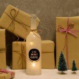 El contellear feliz nunca después del regalo blanco del contrato de la boda del cumpleaños LED de la botella de la luz de las estrellas