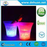 주문 로고 플라스틱 Bunning LED 얼음 양동이 4L/8L