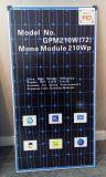 panneau solaire de dos du bleu 210W, matériau de l'Allemagne, une meilleure qualité