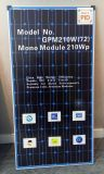 210W青の背部太陽電池パネル、ドイツ文書、良質