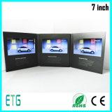 Vídeo de pantalla LCD de 7 pulgadas Folleto saludo para la reunión