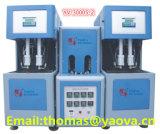 Tramo semi-automático máquina de moldeo por soplado para botellas de 2 cavidades 3000ml