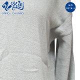 Il manicotto lungo grigio intasca il vestito sexy serico del V-Neckline