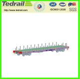 Coche plano ferroviario de la carga pesada