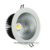 Alta MAZORCA de iluminación comercial LED Downlight del CRI 18W Dimmable de la alta calidad